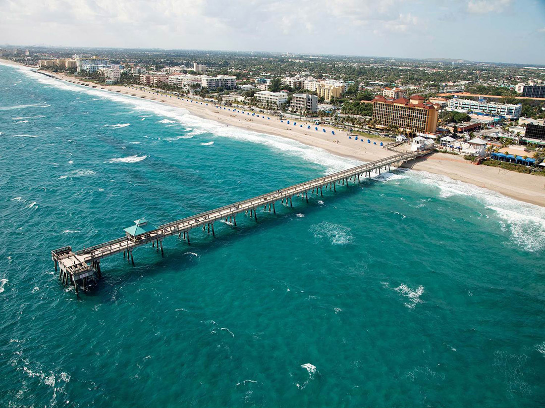 Deerfield Beach Pier Aerial