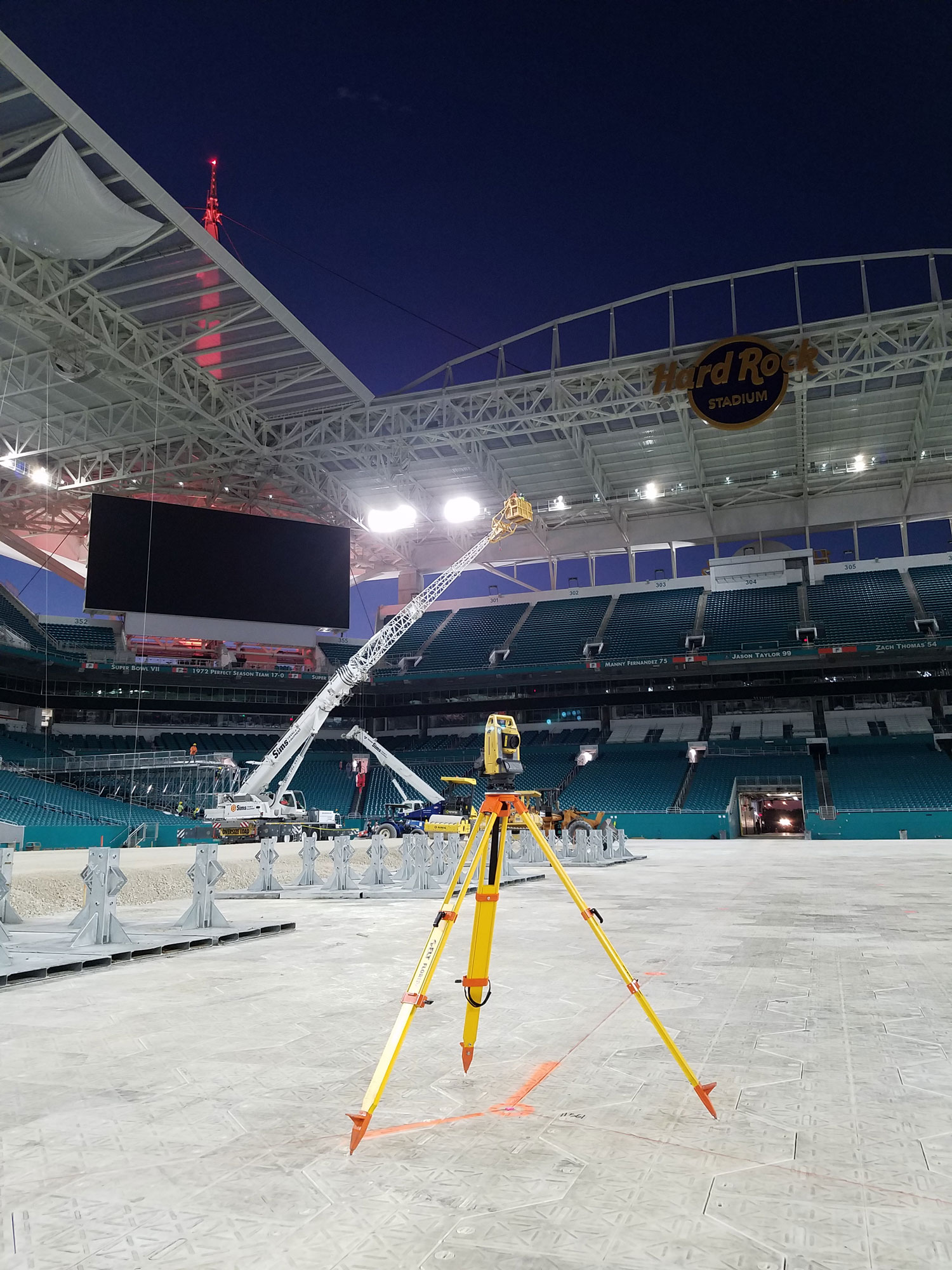Hard Rock Stadium Miami Open Surveying